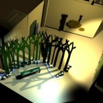 """Maquette 3D: le château de """"Mélusine"""""""