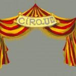 """décor d'exposition: """"cirque"""""""