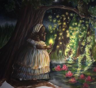 "Création originale d'illustrations jeunes public: ""Mamabayou""."