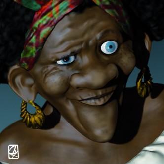 """Modèle 3D: """"Mamabayou""""."""