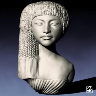 "Modélisation 3D: ""buste égyptien""."