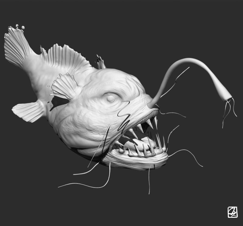 Mod le 3d poissons des abysses - Modele poisson ...