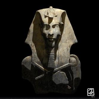 """Modèle 3D:""""pharaon""""."""