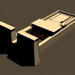 Modèle 3D: temple Egyptien.