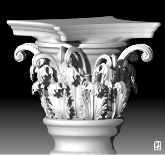 "3D modeling:""corinthian column"""