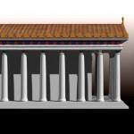 """Modèle 3D: """"temple Grec""""."""