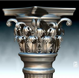 """Modèle 3D: """"temple Grec"""""""