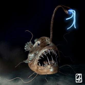 """Modèle 3D:""""poisson des abysses"""""""