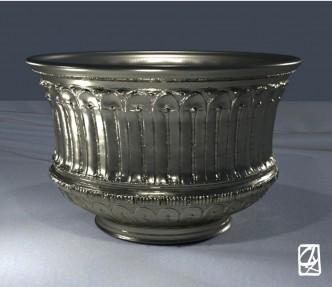 """Modélisation 3D: """"vase argent""""."""