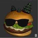"""Modèle 3D:""""stickers décoration"""""""