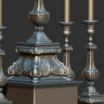 "Modélisation 3D:""candélabre"""