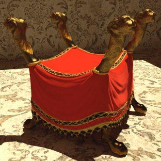 "3D modeling: ""faldstool"""
