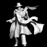 """Figurine 3D:"""" personnage de comics"""""""