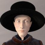 """3D modeling:"""" The Arnolfini portrait""""."""