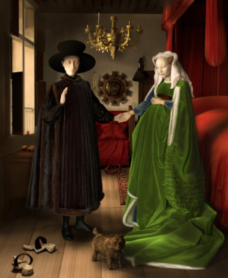 "3D modeling:"" The Arnolfini portrait""."